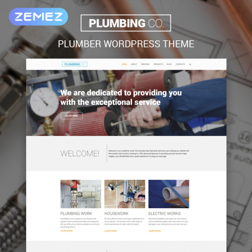 Plumbing Co - WordPress Template based on Bootstrap
