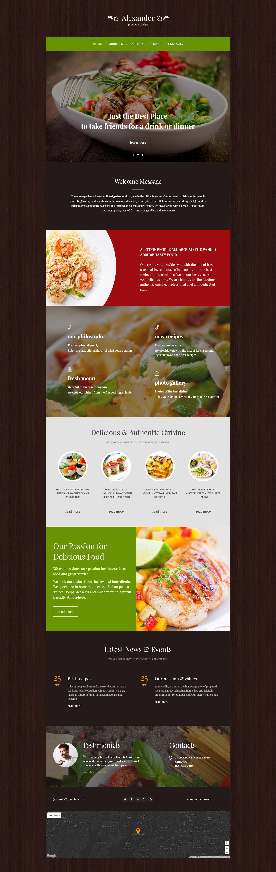 Premium Cuisine WordPress Theme - screenshot