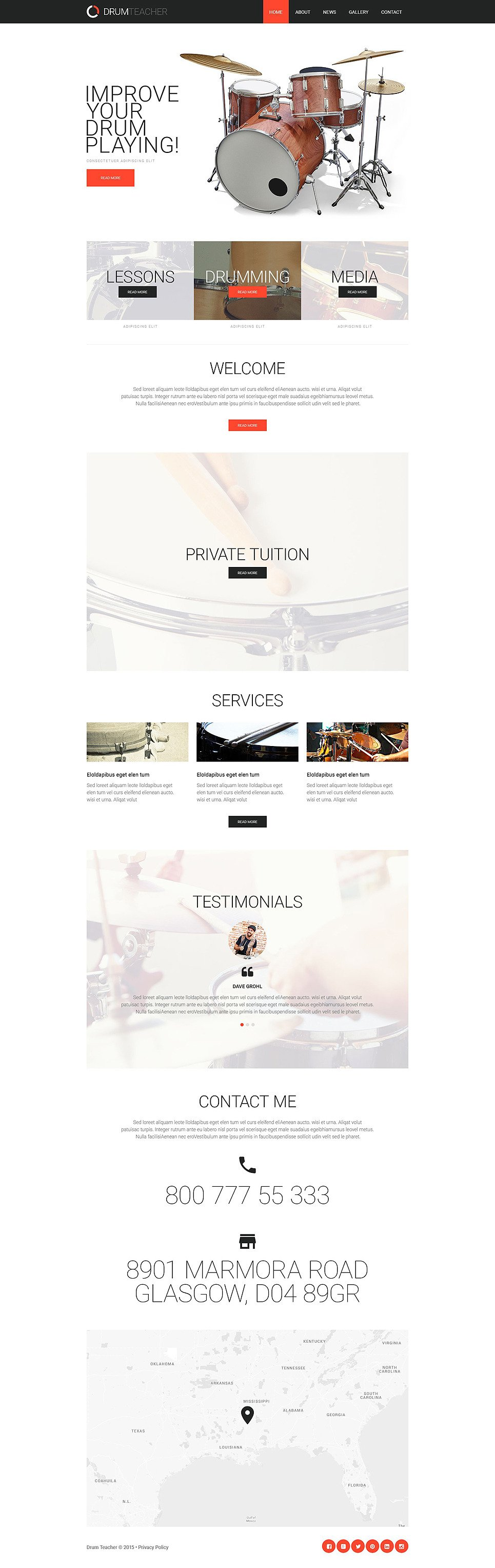 Private Teacher Responsive Website Template New Screenshots BIG