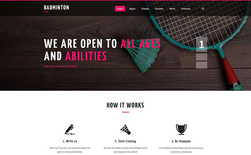 Responsive Badminton  Web Sitesi Şablonu New Screenshots BIG