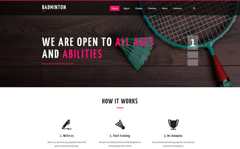 Website Vorlage #55711 für Badminton