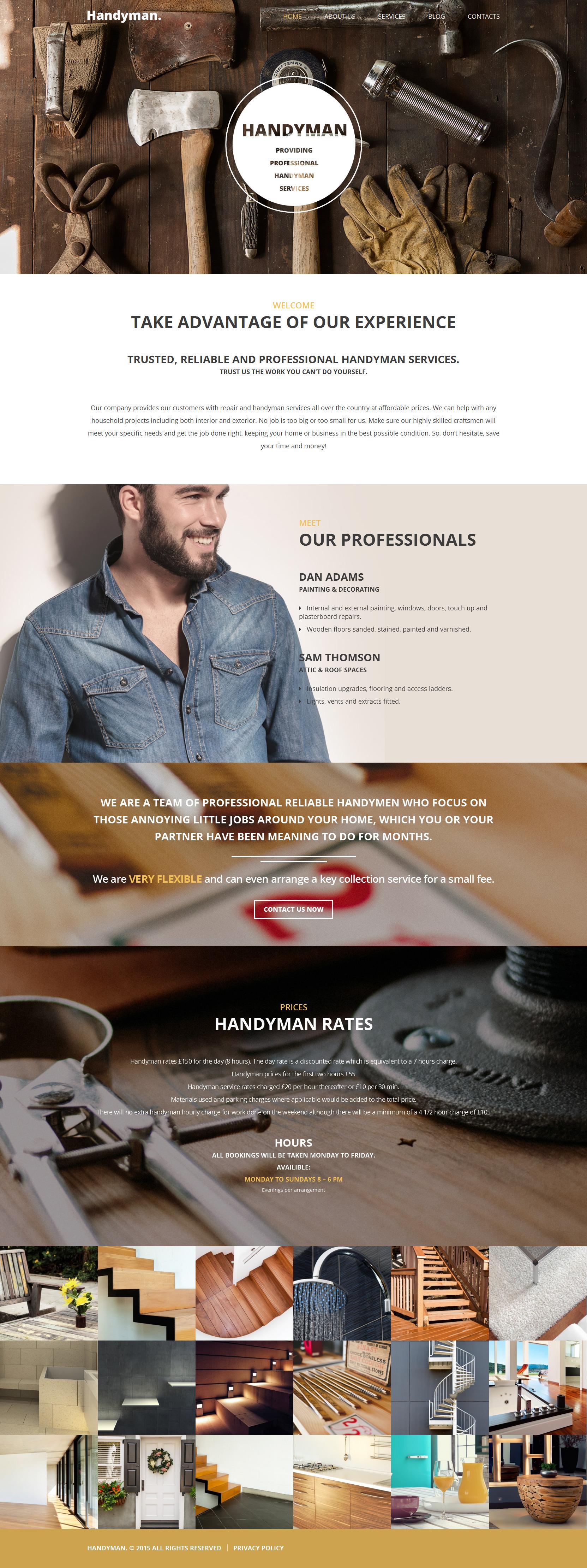 Responsivt Handyman WordPress-tema #55705