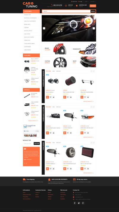 Responsywny szablon OpenCart #55728 na temat: tuning samochodowy