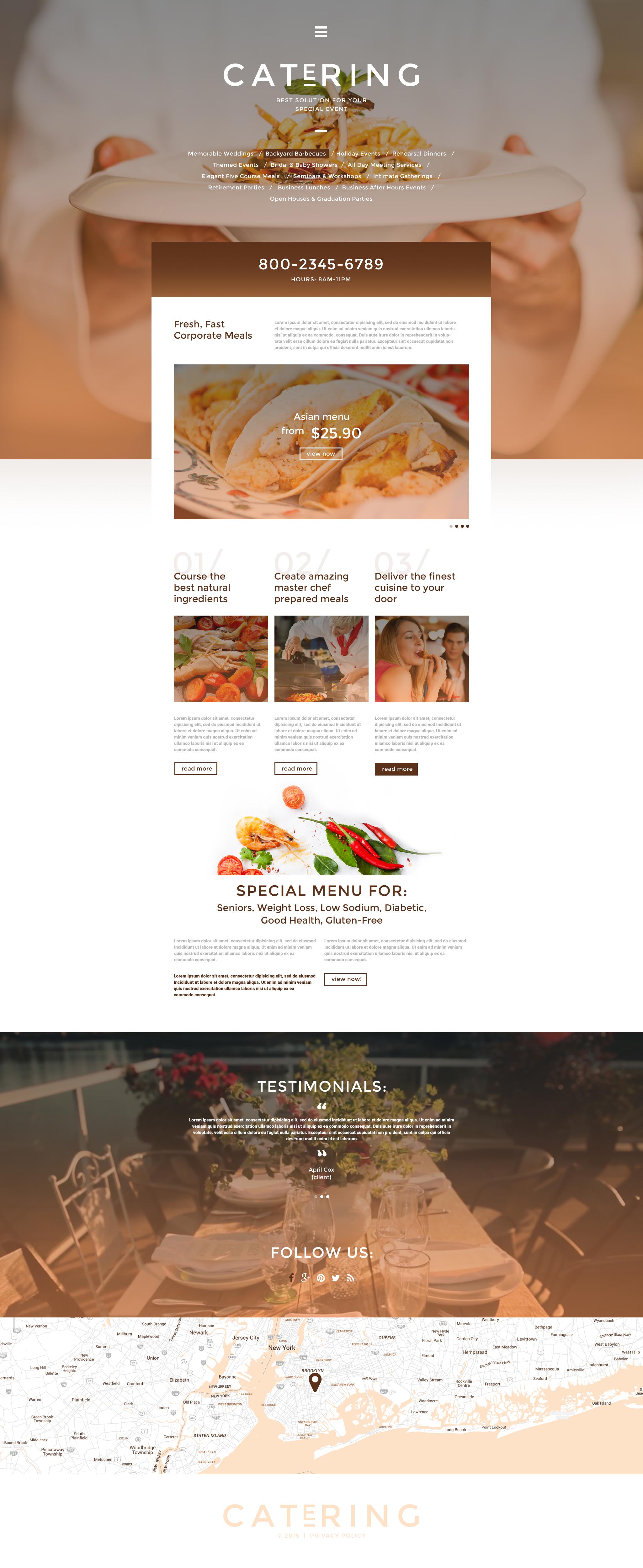 """Responzivní Šablona webových stránek """"Catering Solutions"""" #55773"""
