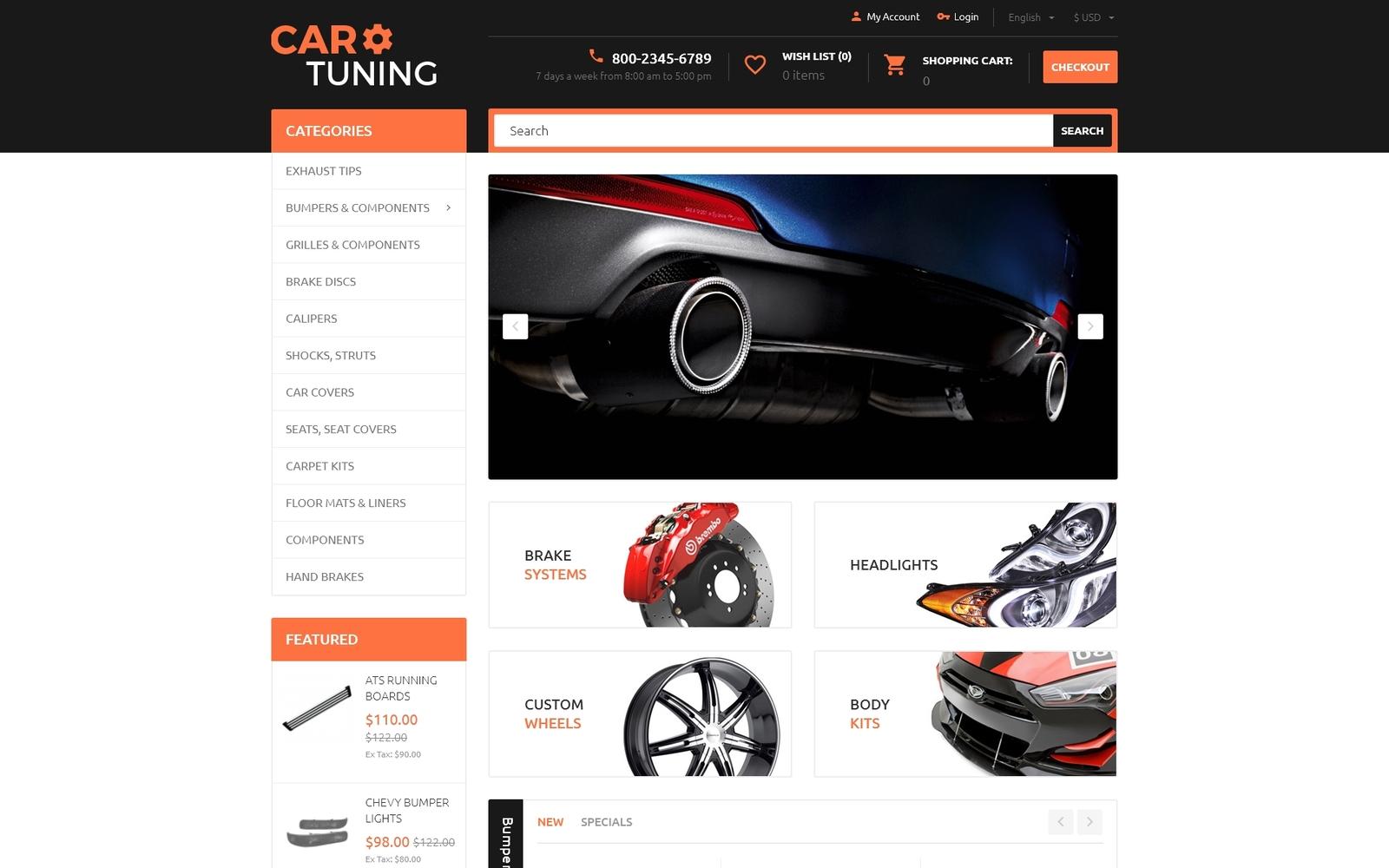Reszponzív Car Tuning OpenCart sablon 55728