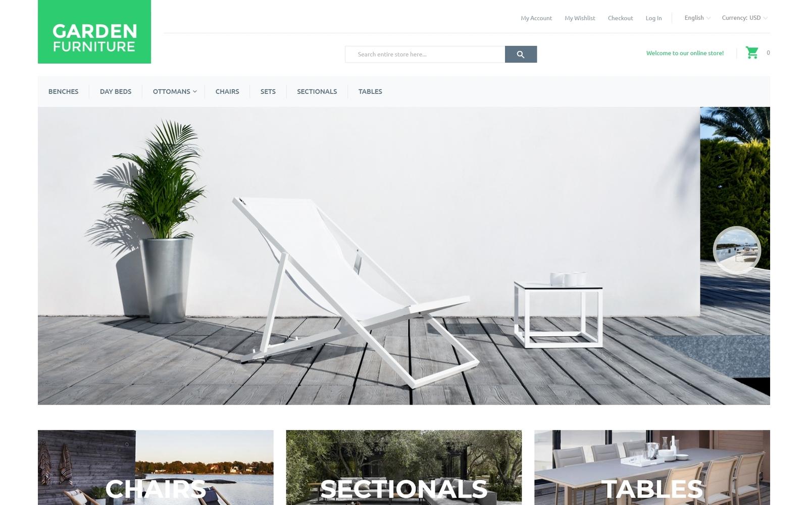 Reszponzív Garden Furniture Magento sablon 55765