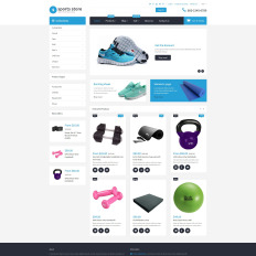 free sports store templates templatemonster