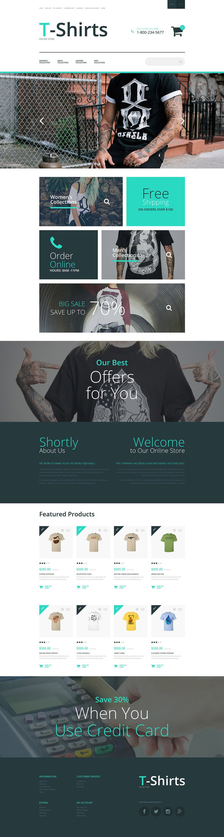 T-Shirt Stock OpenCart Template New Screenshots BIG
