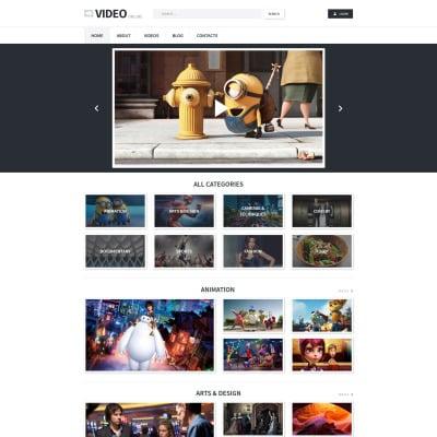 Tema de WordPress #53877 para Sitio de Galerías de vídeos