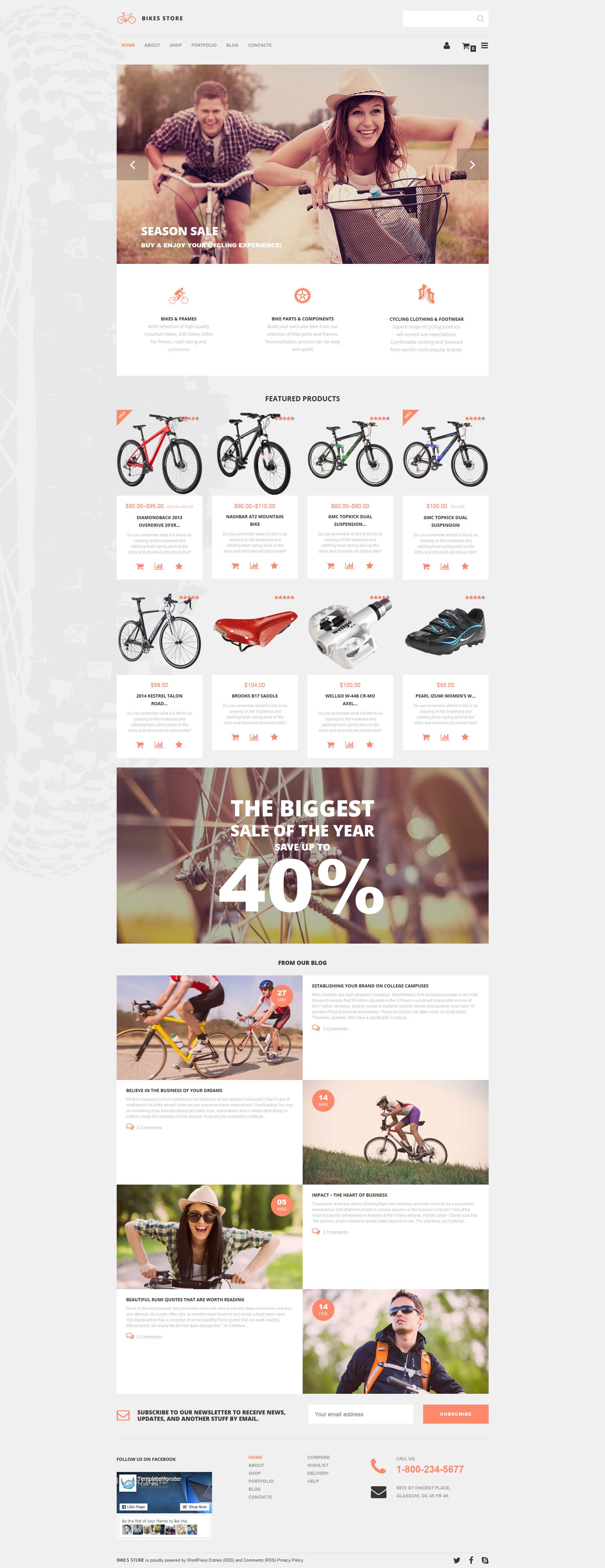 "Tema WooCommerce ""Tienda de Bicicletas"" #55762"