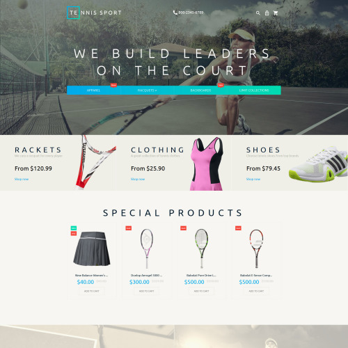 Tennis Sport - Magento Template based on Bootstrap