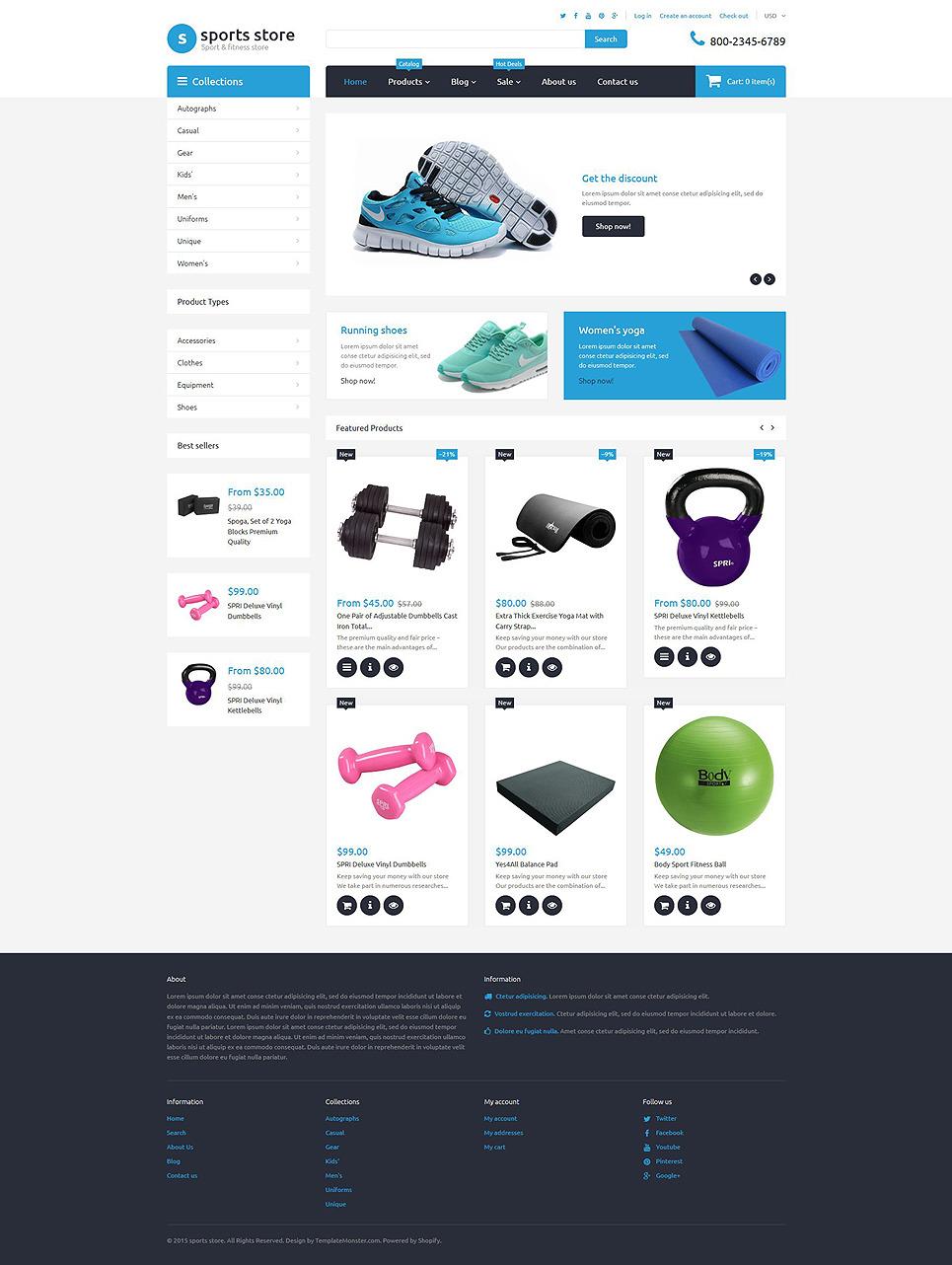 Th 232 Me Shopify Adaptatif 55732 Pour Boutique De Sport