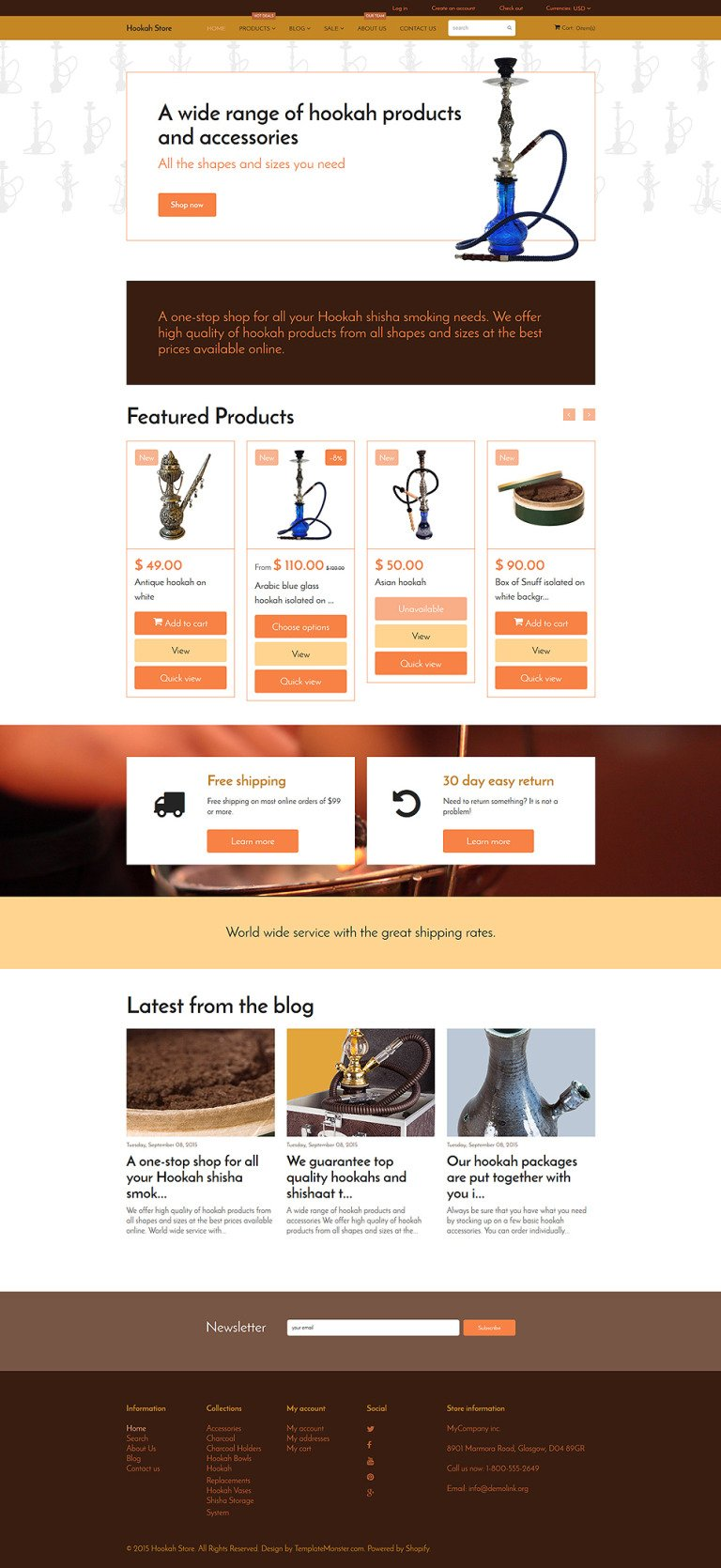 Tobacco Shopify Theme New Screenshots BIG