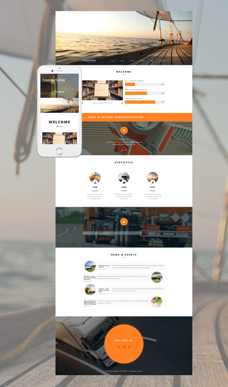 Transportation Private Company WordPress Theme New Screenshots BIG
