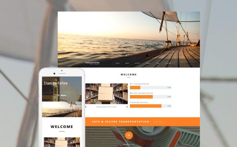 Transportation Private Company WordPress Theme