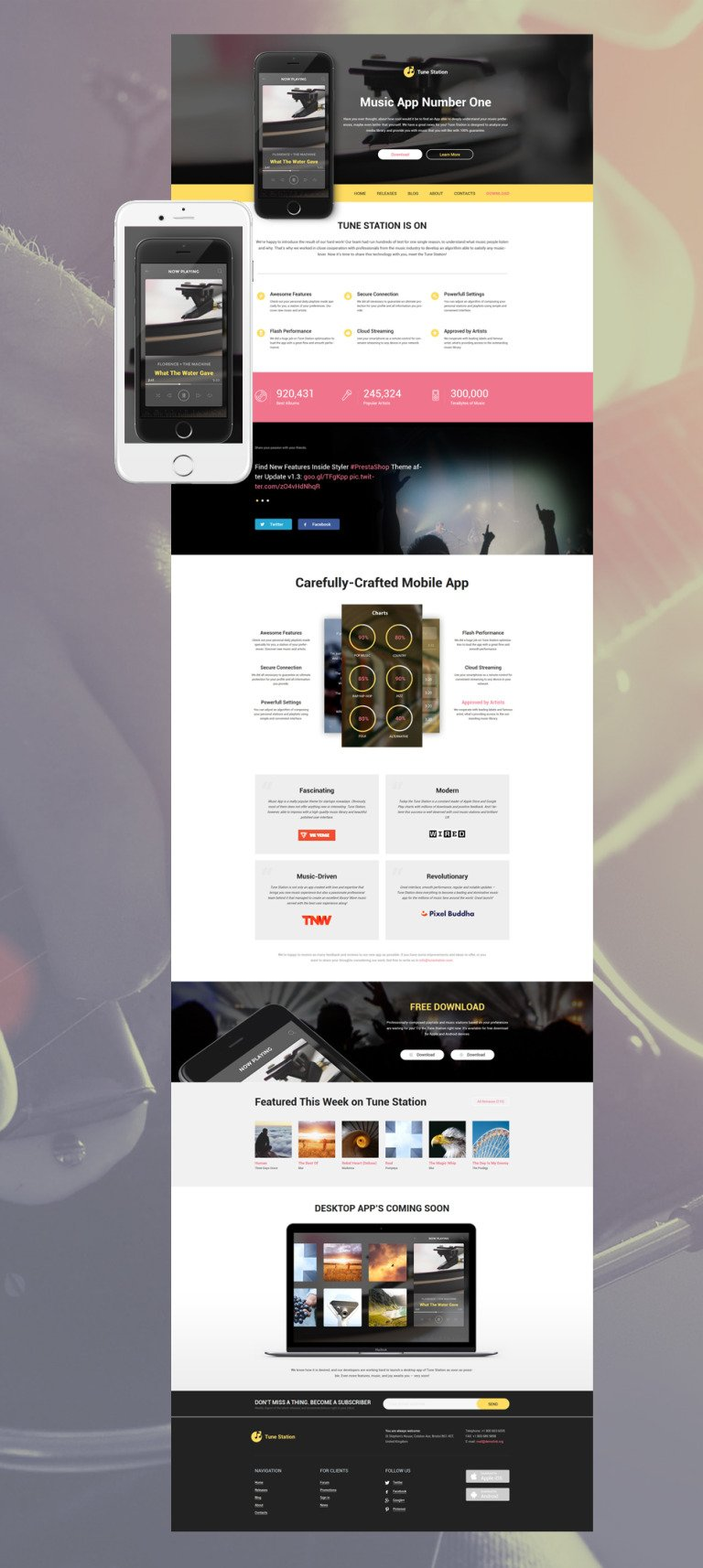 Tune Station WordPress Theme New Screenshots BIG