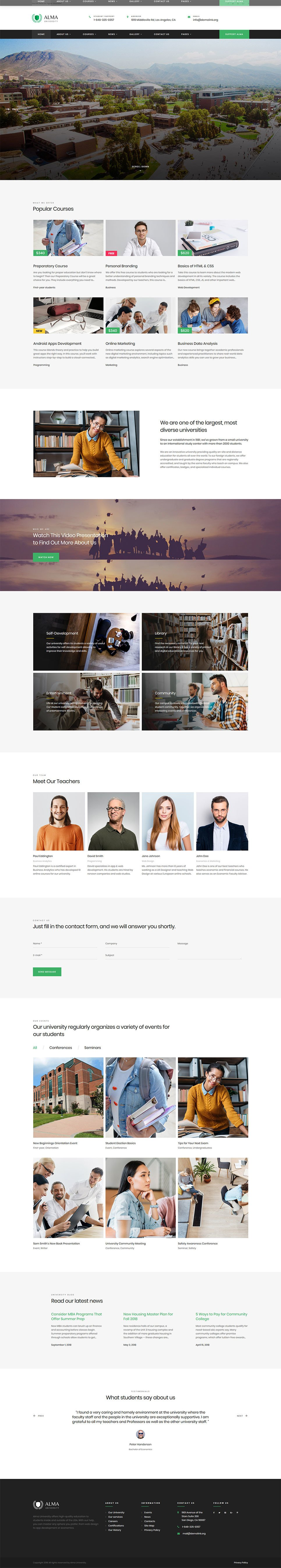 University Responsive Website Template New Screenshots BIG