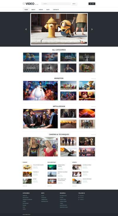 Video Records WordPress Theme #55716