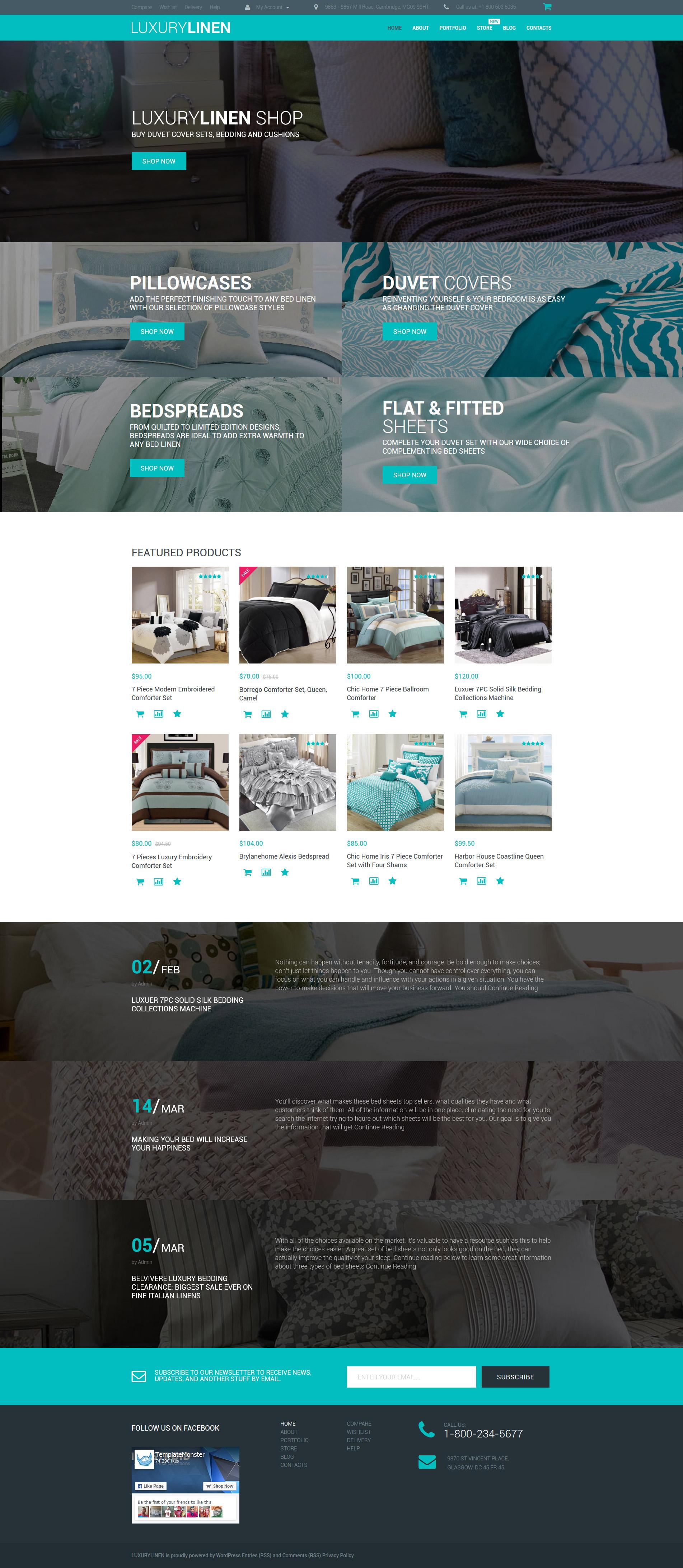 "WooCommerce Theme namens ""Luxury Linen Store"" #55734"