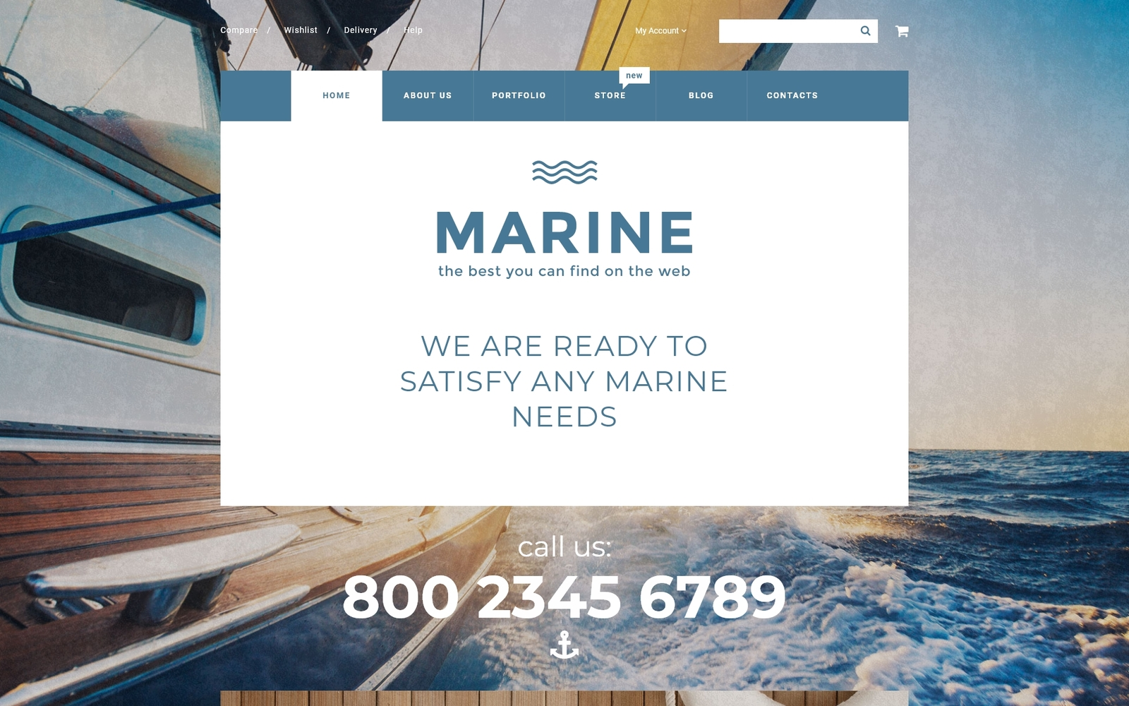 "WooCommerce Theme namens ""Marine"" #55730"