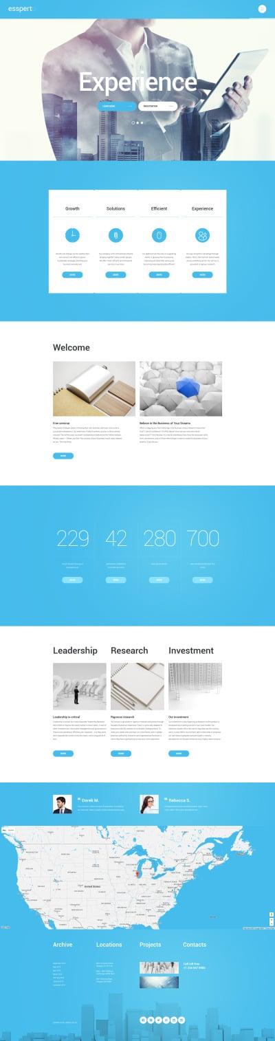 Адаптивный WordPress шаблон №55712 на тему бизнес и услуги