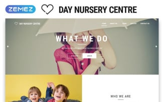 Day Nursery Centre - Kids Center Minimal HTML Bootstrap Website Template