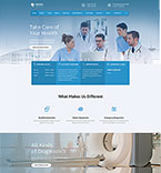 Medical Website  Template 55809