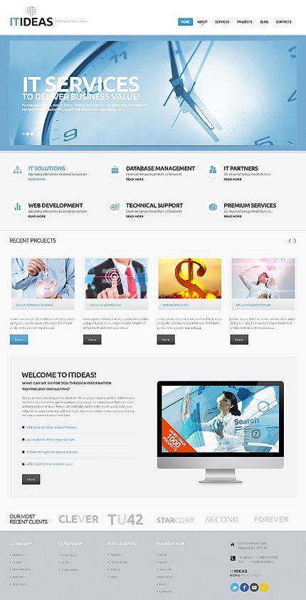 ADOBE Photoshop Template 55823 Home Page Screenshot