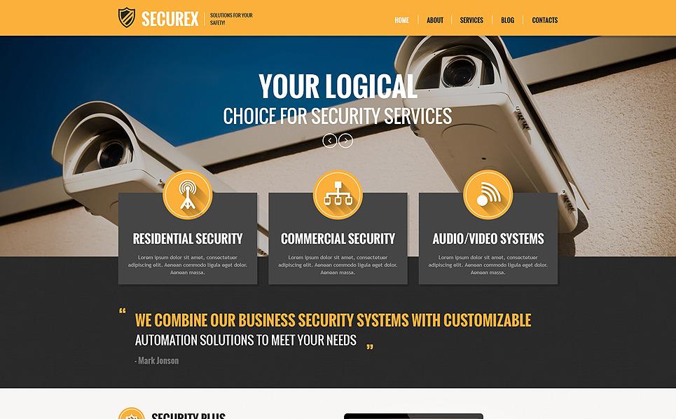 PSD šablona Bezpečnost New Screenshots BIG
