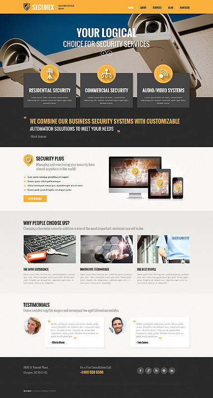 ADOBE Photoshop Template 55826 Home Page Screenshot