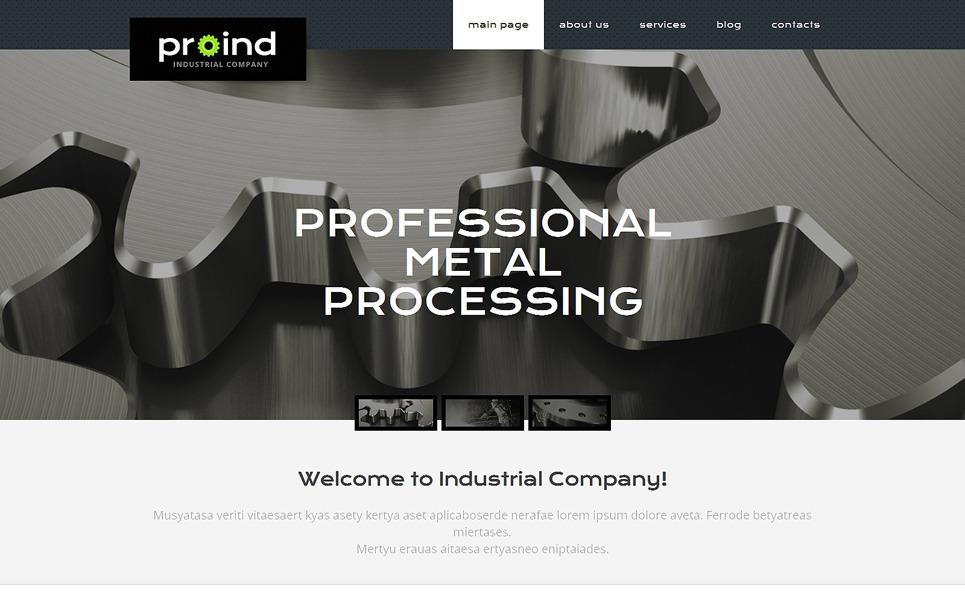 PSD šablona Průmysl New Screenshots BIG