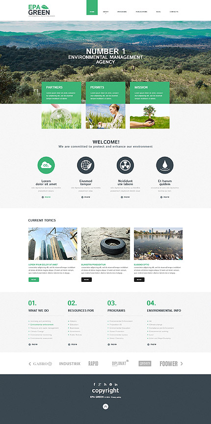 ADOBE Photoshop Template 55842 Home Page Screenshot