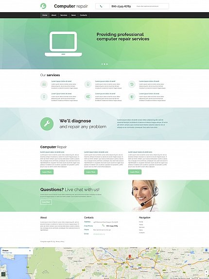 ADOBE Photoshop Template 55845 Home Page Screenshot