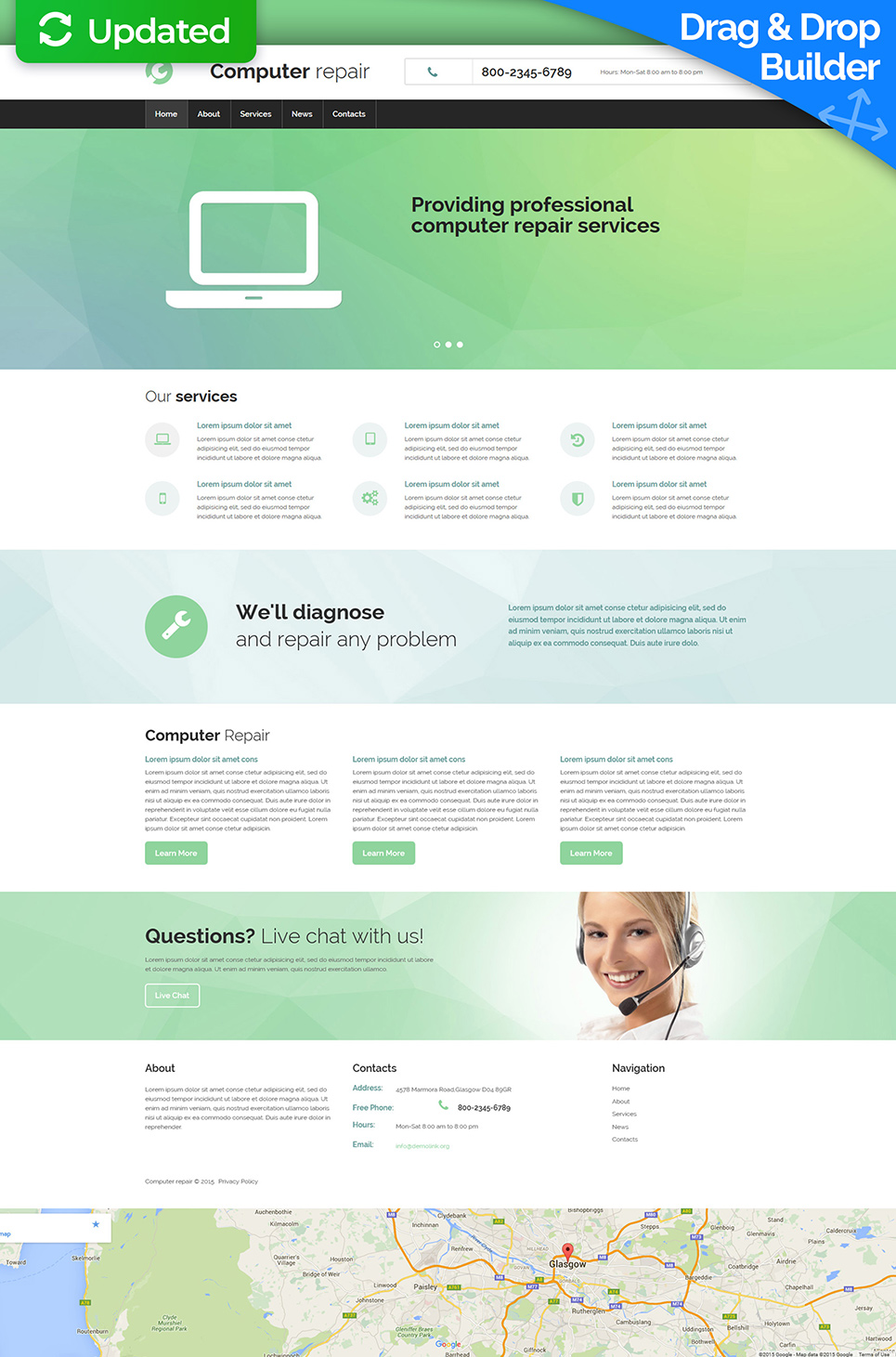 Software company site theme