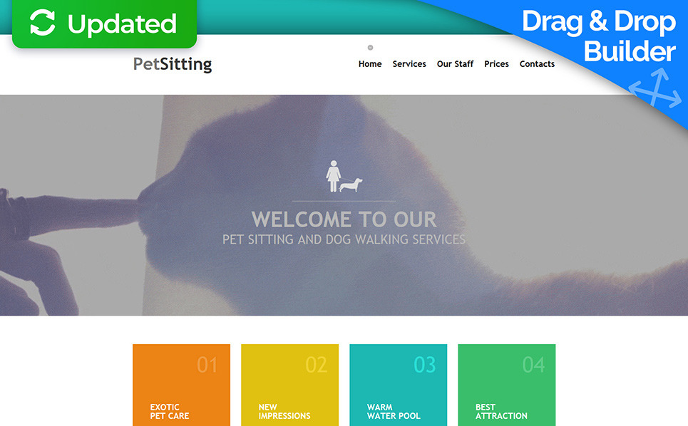 Responsive Hayvan Bakıcılığı  Moto Cms 3 Şablon New Screenshots BIG
