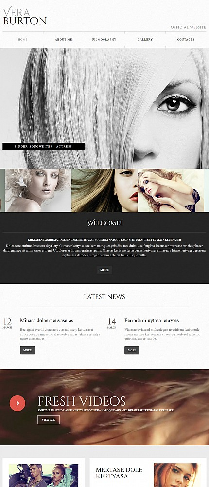 ADOBE Photoshop Template 55853 Home Page Screenshot