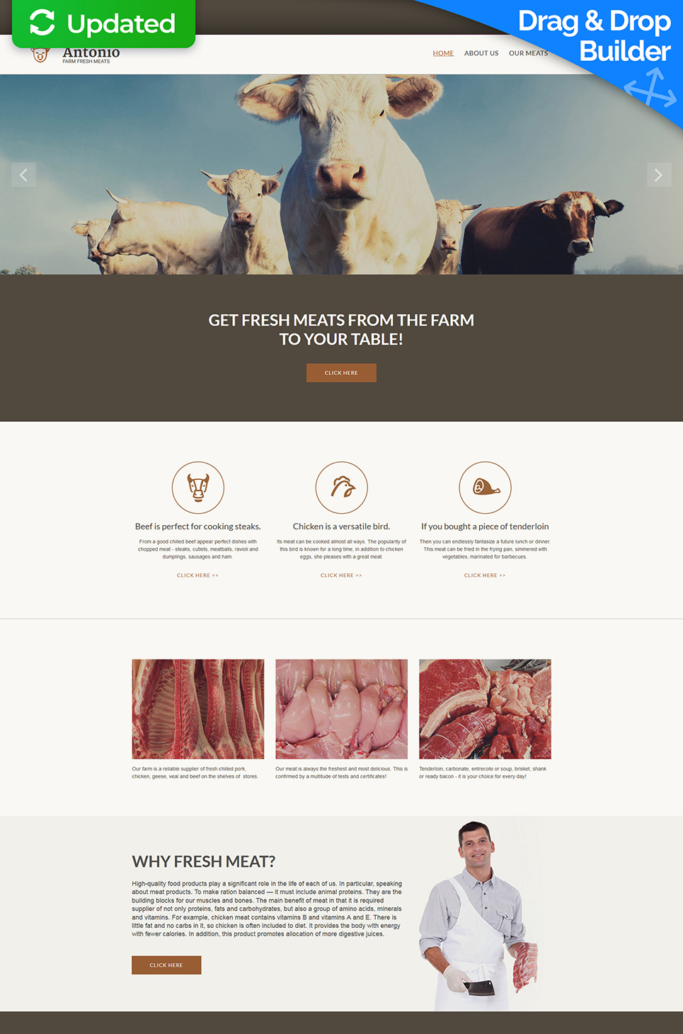 Responsive site for farm owners