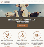 Agriculture Moto CMS 3  Template 55854