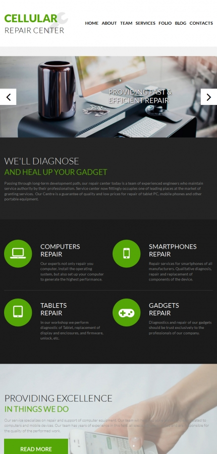 ADOBE Photoshop Template 55862 Home Page Screenshot