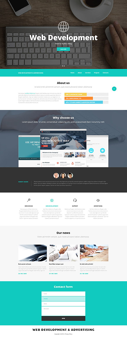ADOBE Photoshop Template 55864 Home Page Screenshot
