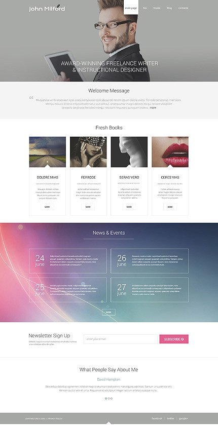ADOBE Photoshop Template 55870 Home Page Screenshot