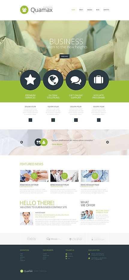 ADOBE Photoshop Template 55871 Home Page Screenshot