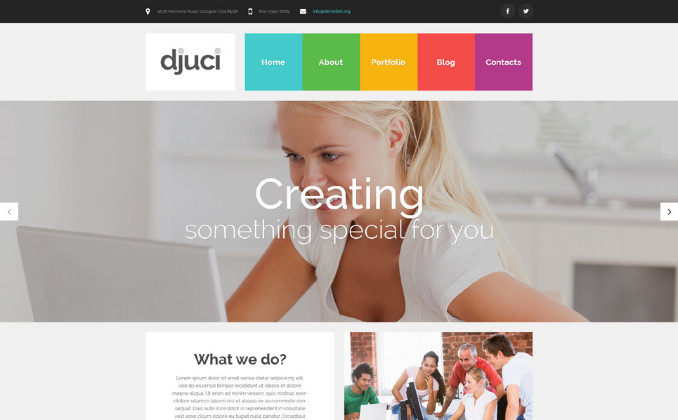 Template PSD  #55876 per Un Sito di Design Studio New Screenshots BIG