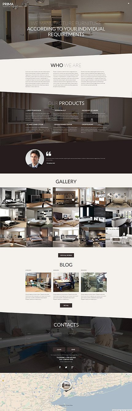 ADOBE Photoshop Template 55877 Home Page Screenshot