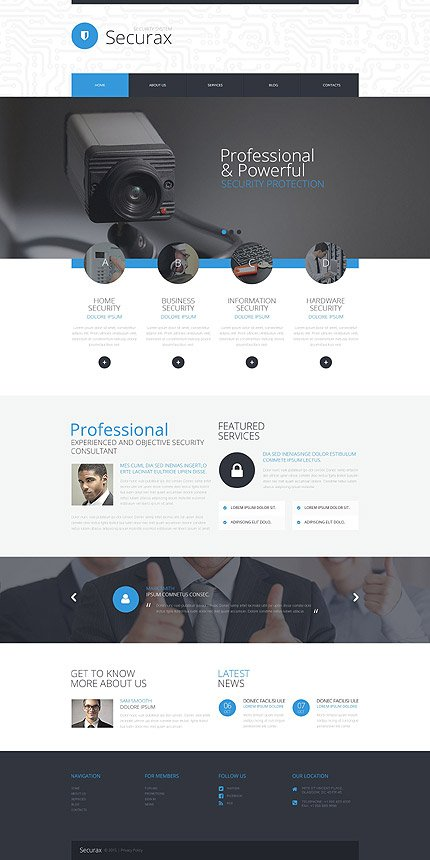 ADOBE Photoshop Template 55887 Home Page Screenshot