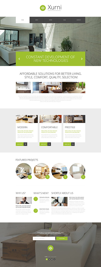 ADOBE Photoshop Template 55889 Home Page Screenshot