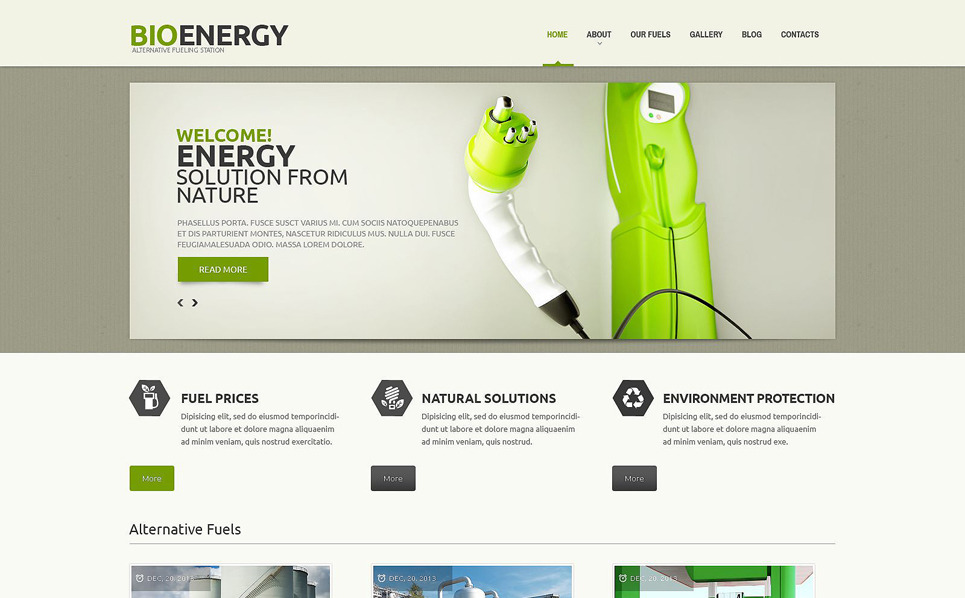Bioüzemanyag PSD sablon New Screenshots BIG