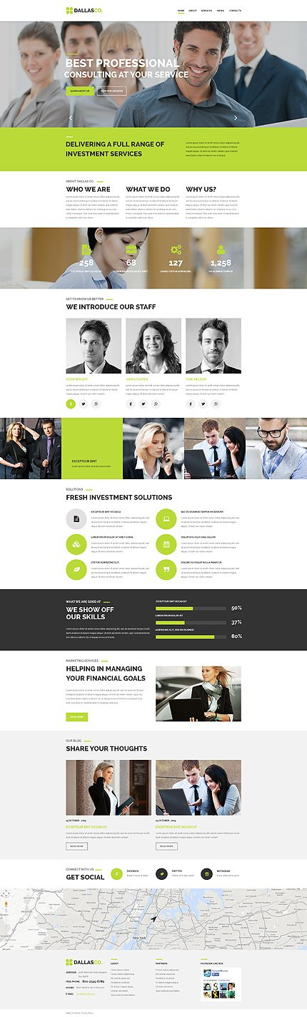 ADOBE Photoshop Template 55897 Home Page Screenshot