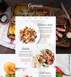 Cafe & Restaurant Website  Template 55899