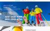 Адаптивный HTML шаблон №55804 на тему катание на лыжах New Screenshots BIG